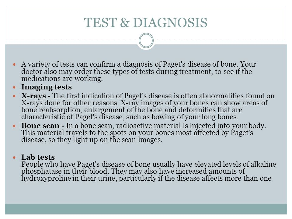 TEST & DIAGNOSIS