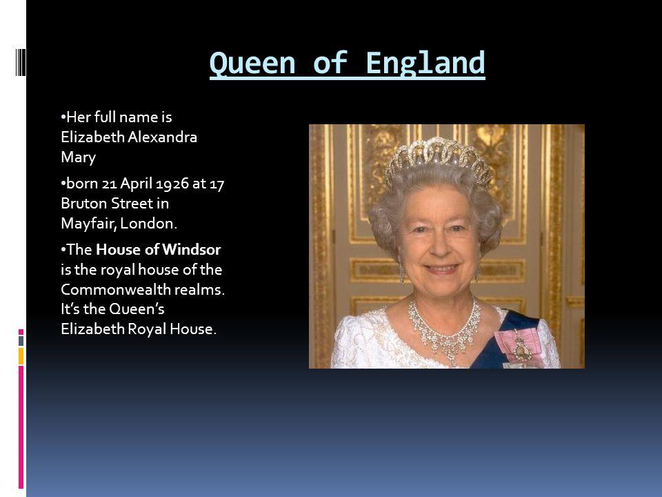 queen elizabeth ii when born
