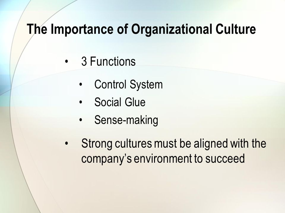 culture is the social glue that Lori fouché, ceo, fireman's fund: culture is the glue that holds an organization  together it helps guide all the decisions, how you behave.