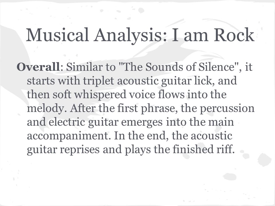 sound of silence analysis