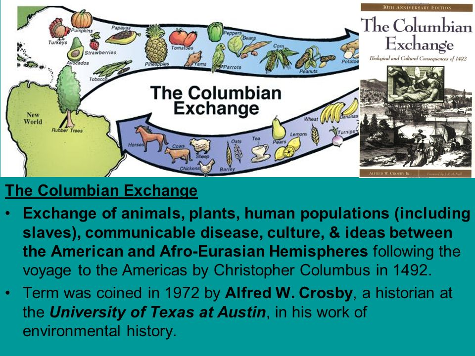 What Was The Columbian Exchange Zrom