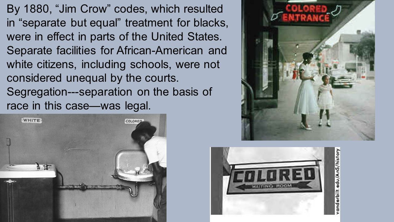 an analysis of the case of separate but equal