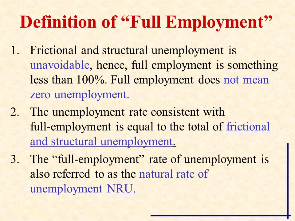 defination for unemployment Employment is a relationship between two parties economic liberalization will result in unemployment and wage inequality in developing countries.
