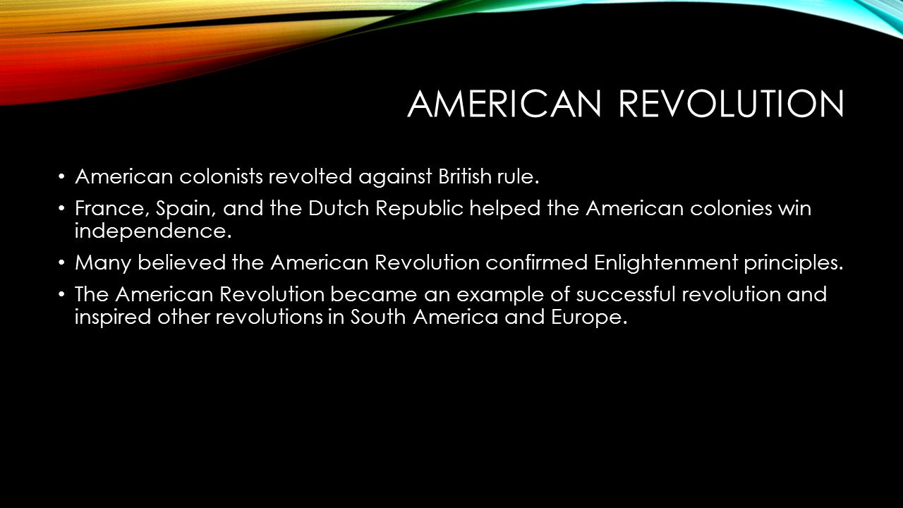 american and french revolutions successful revolutions Effects of the french revolution on america throughout the colonial period of the three americas, the respective mother countries were governed by a regime.