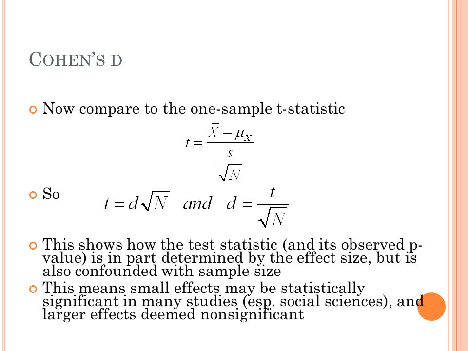 More to life than statistical significance Reporting effect size ...