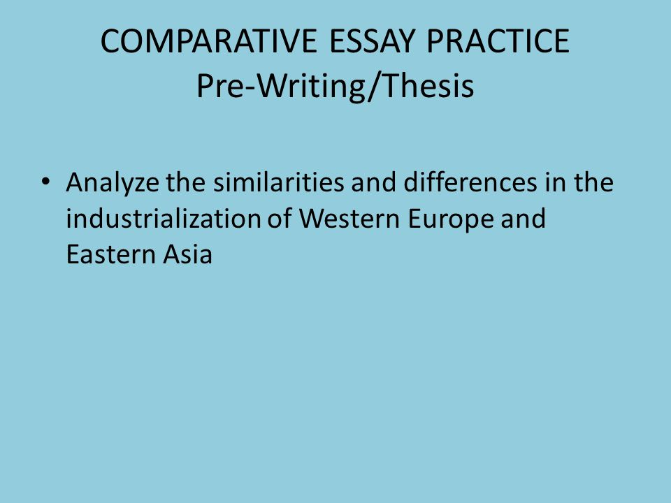 writing a comparative essay thesis