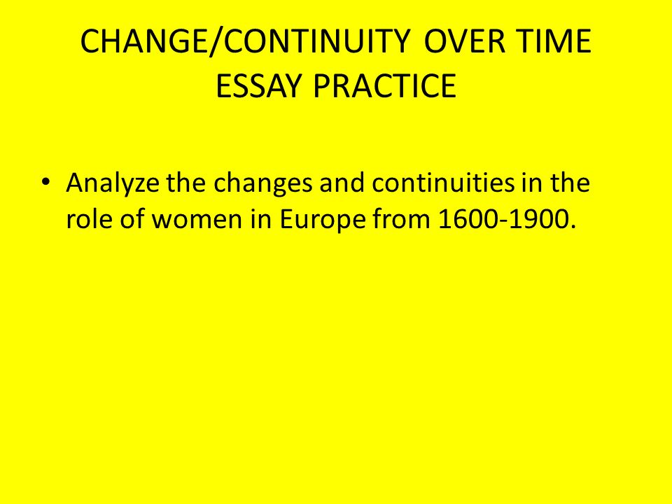 womans rights change and continuity essay Below is a free excerpt of rome continuity & change over time essay from and change over time women's rights: free-essays/rome-continuity-change-over.