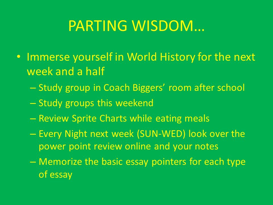 an essay about world history Writing an essay on the history of the cold war i have prepared a special guide for helping you to write a perfect paper any topic of the world history.