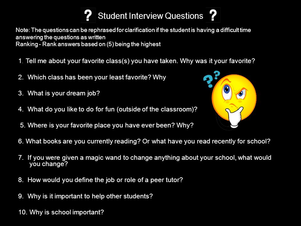 ... Can Help You Determine What Your Job Objectives Should State. Student Interview  Questions