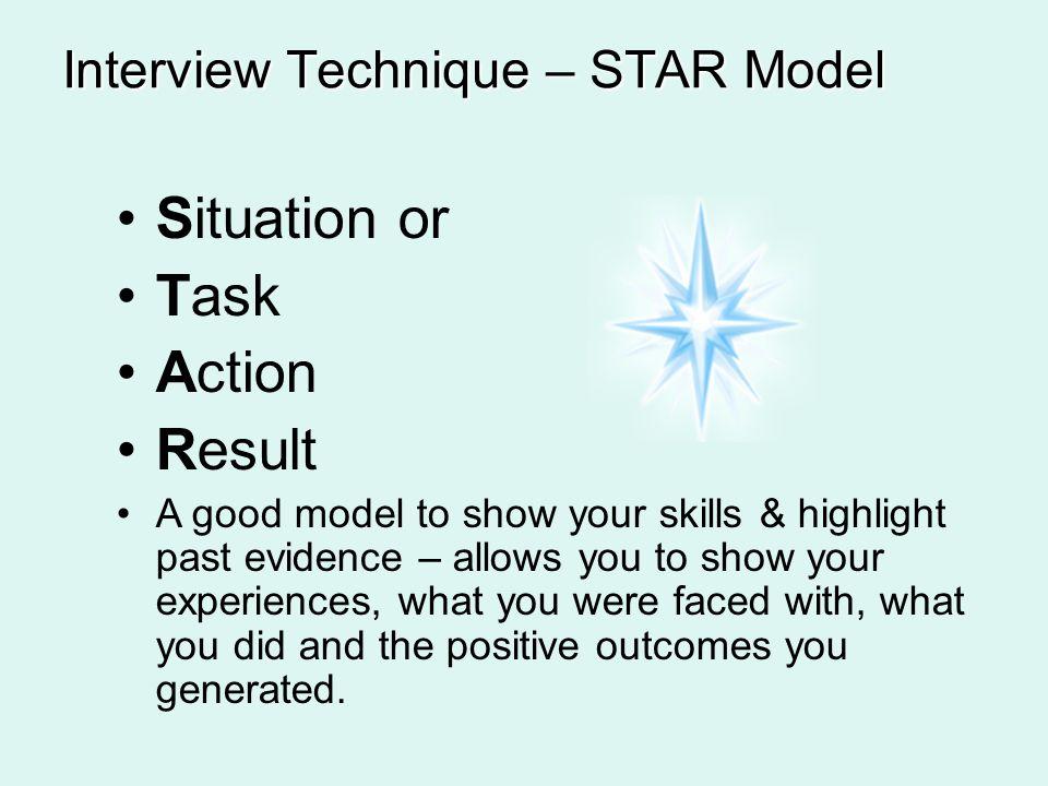 interview technique star