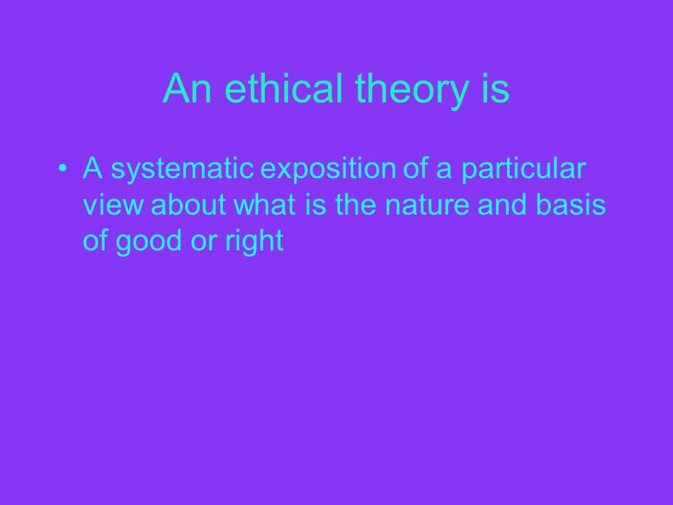 an ethical view