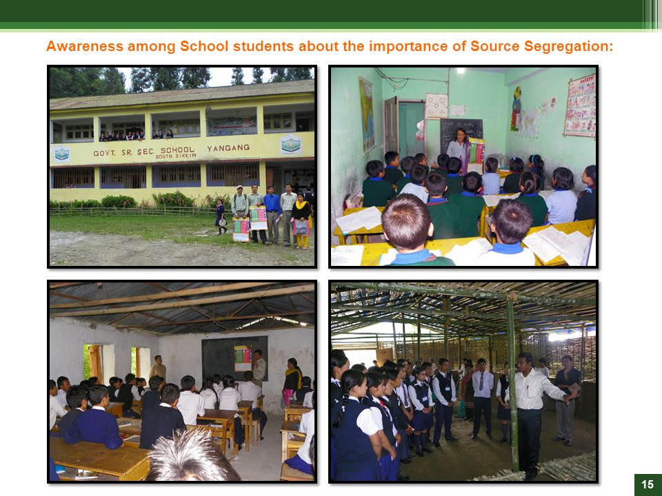 Awareness among School students about the importance of Source Segregation: