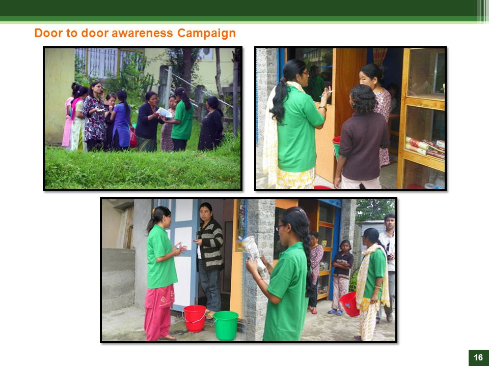 Door to door awareness Campaign