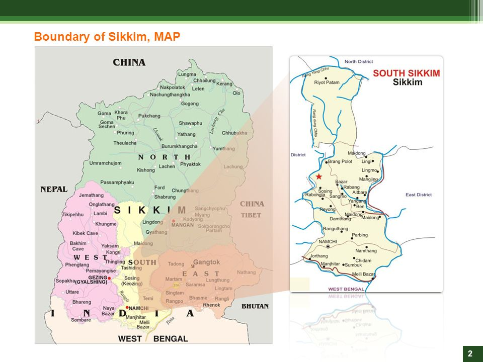 Boundary of Sikkim, MAP