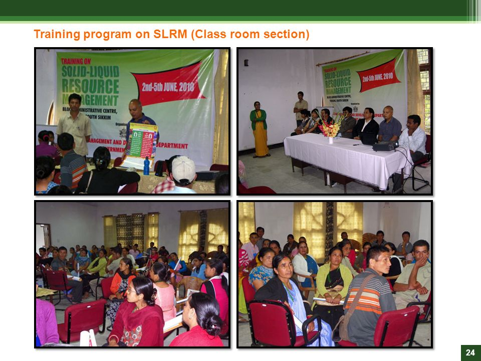 Training program on SLRM (Class room section)