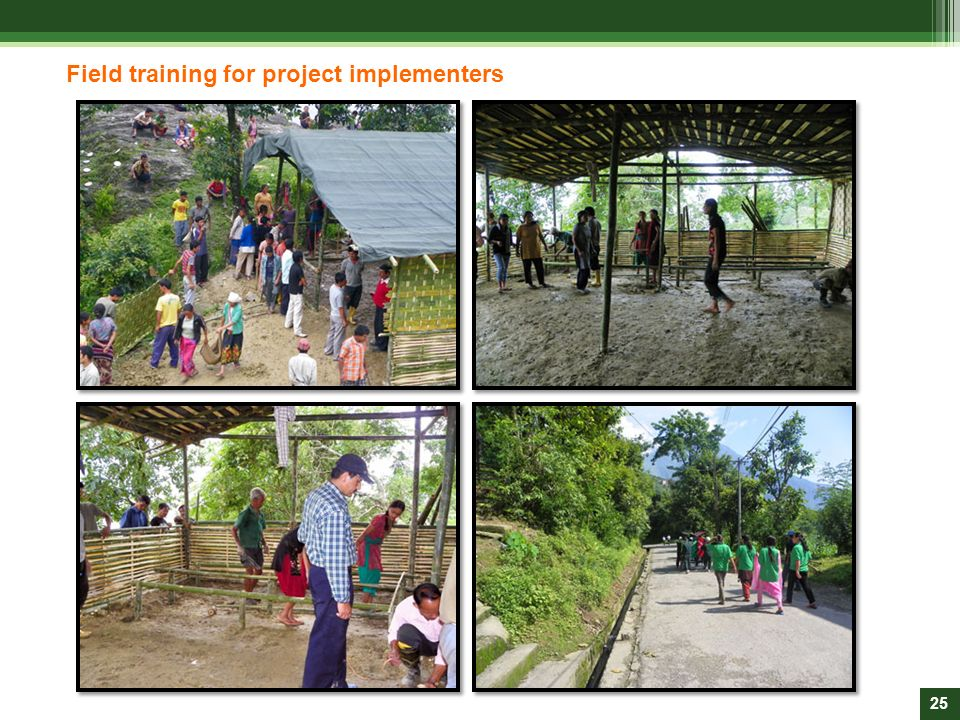 Field training for project implementers
