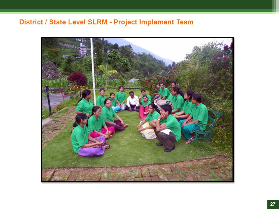 District / State Level SLRM - Project Implement Team