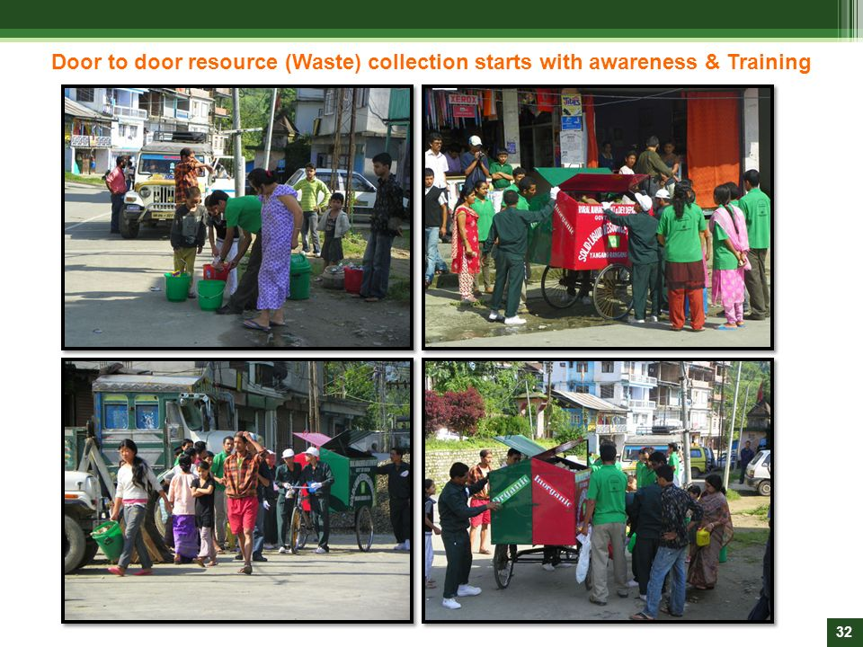 Door to door resource (Waste) collection starts with awareness & Training