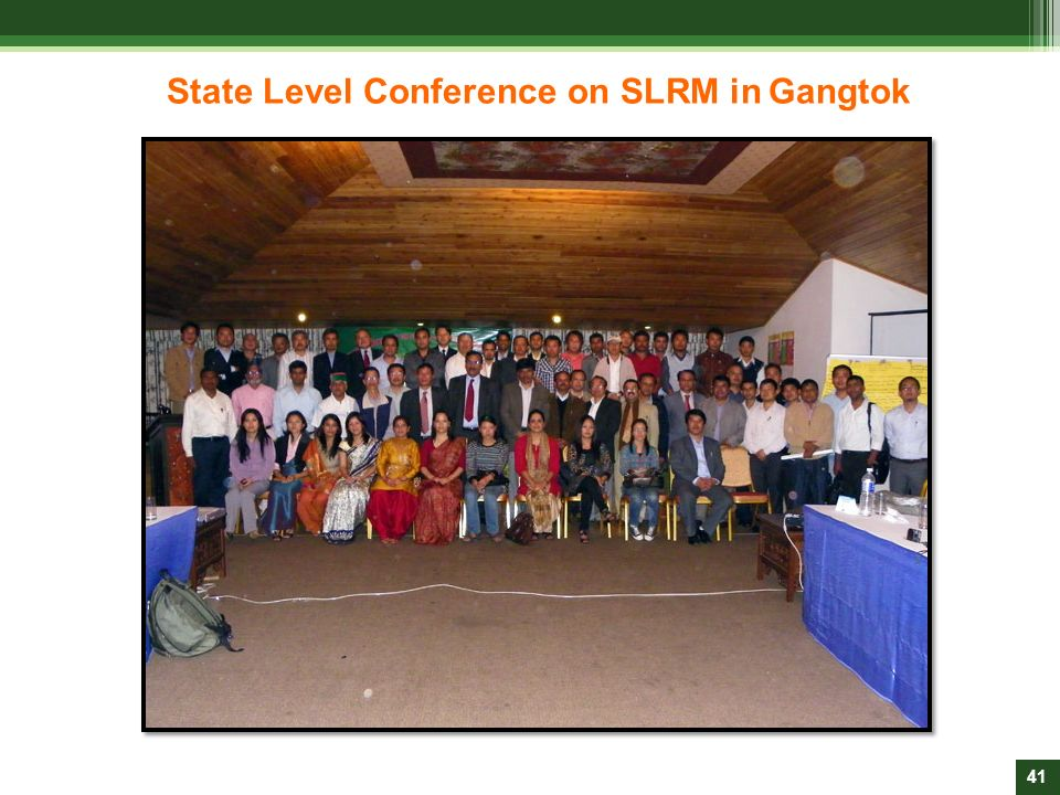 State Level Conference on SLRM in Gangtok