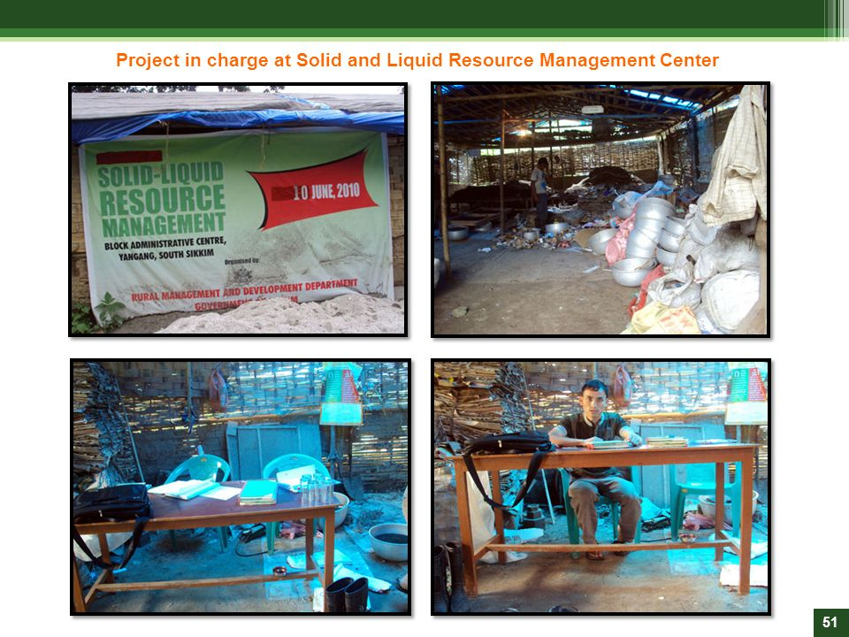 Project in charge at Solid and Liquid Resource Management Center