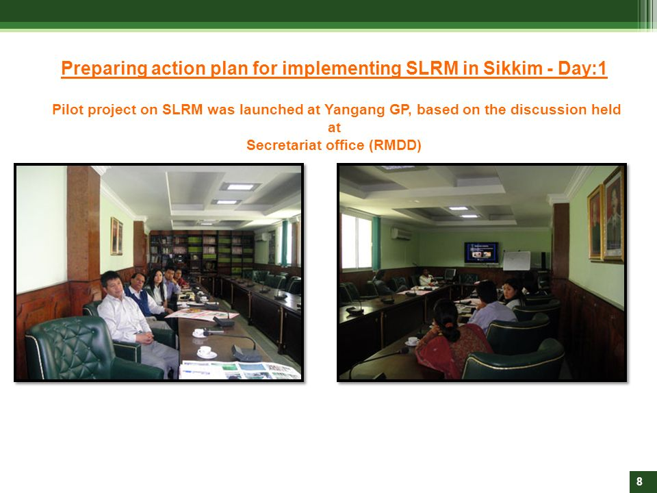 Preparing action plan for implementing SLRM in Sikkim - Day:1