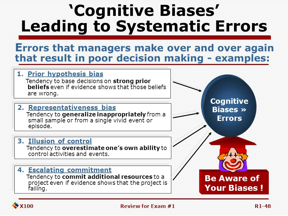 prior hypothesis bias The take-home lesson here is set your hypothesis and  witnesses are not allowed to discuss it prior  the article was great at explaining confirmation bias,.