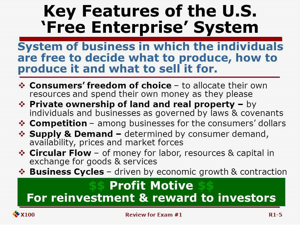 features of free market economy pdf