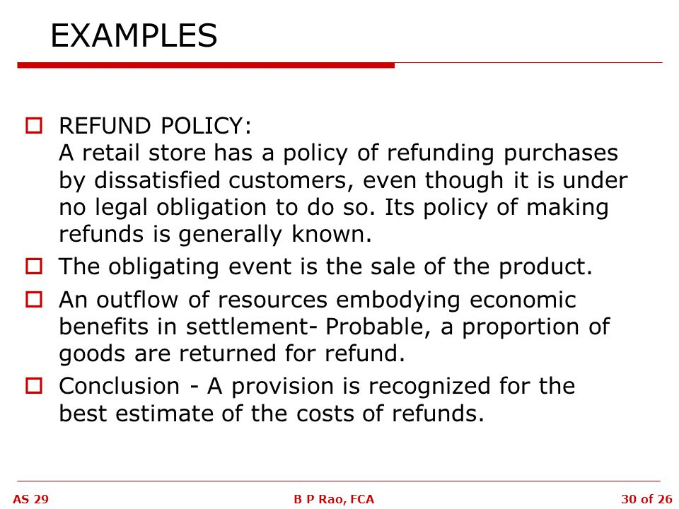 accounting standard 29 provisions contingent liabilities saveenlarge refund policy template dropshipping