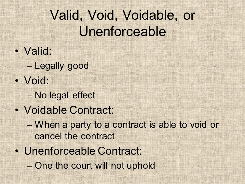 void and voidable contract pdf