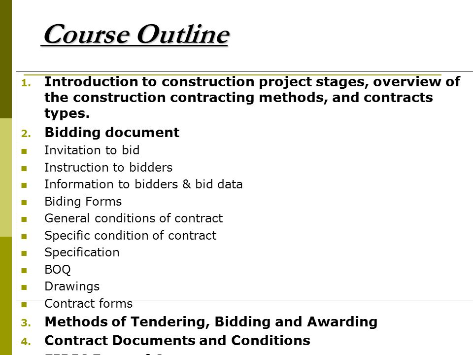 CONSTRUCTION CONTRACTS DOCUEMENTS ppt download