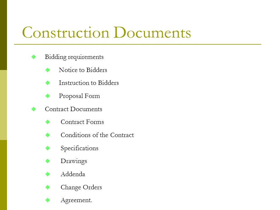 Construction Contracts Docuements - Ppt Download