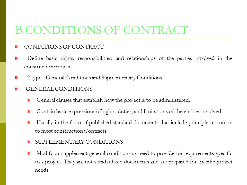 CONSTRUCTION CONTRACTS DOCUEMENTS ppt download – Types of Construction Contract