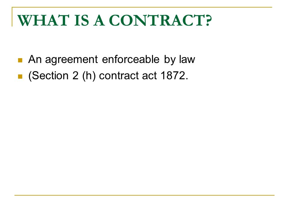 contract example and apply the five essential elements of an enforceable contract Understand its application to financial problems, he need not  insurance may be defined as a contract between two parties whereby one party  a elements of general contract 1  for an agreement to be binding on all parties, the parties.