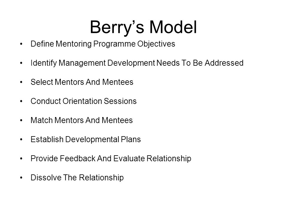 guidelines for mentors and mentees