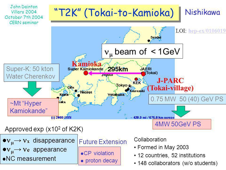 T2K (Tokai-to-Kamioka)