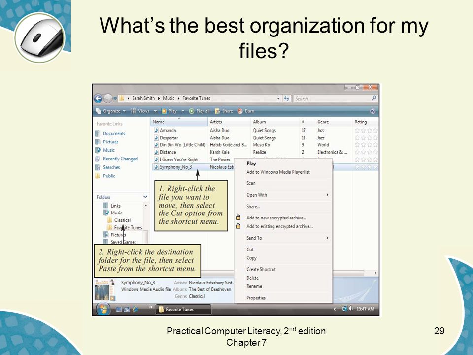 What's the best organization for my files