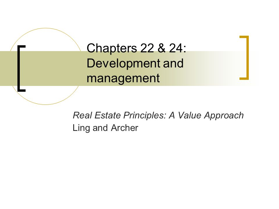 Real Estate Development Management : Chapters development and management ppt video