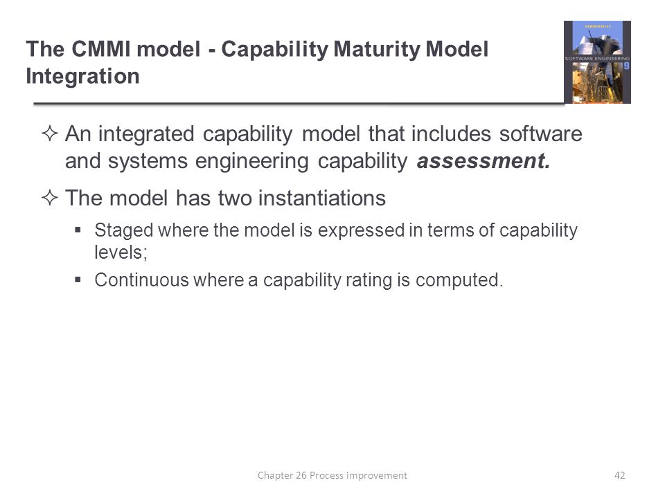 the capability maturity models integration and Capability maturity model integration  which aimed to improve the usability of maturity models by  cmmi is the successor of the capability maturity.