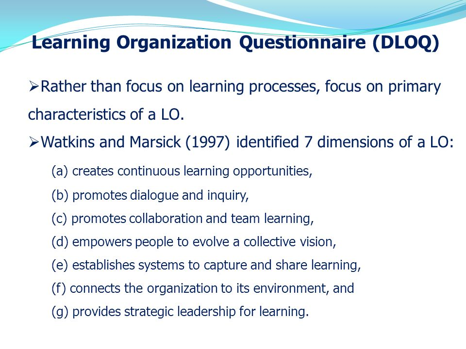 how to build a continuous learning organization