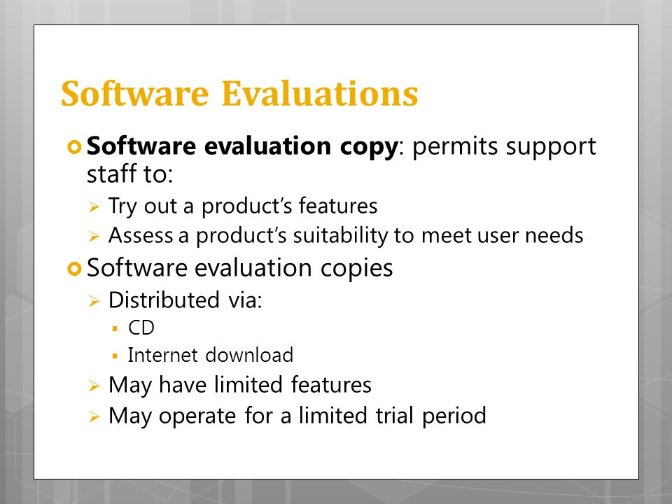 Product Evaluation Strategies  Support Standards  Ppt Video Online