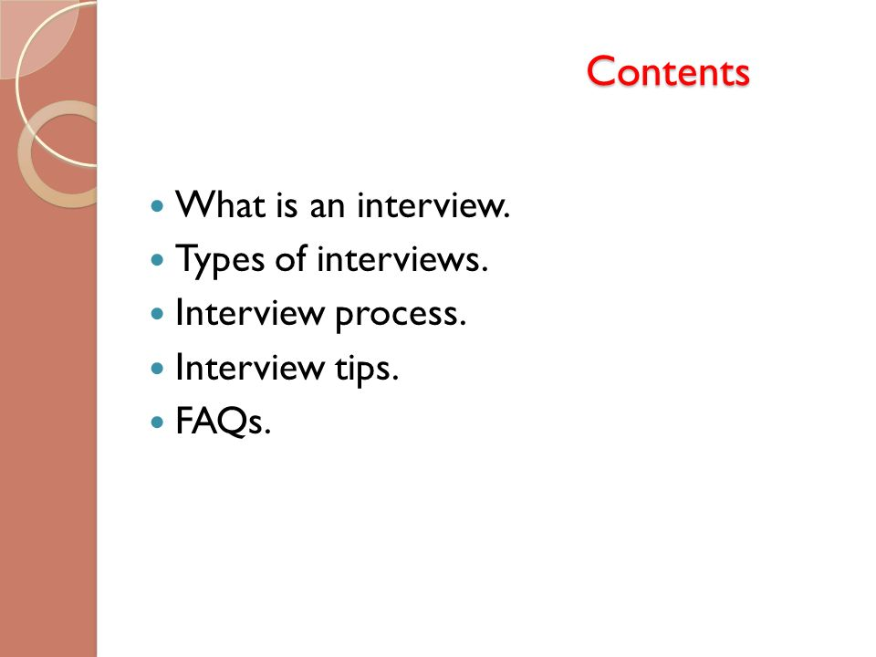 INTERVIEW. - ppt download