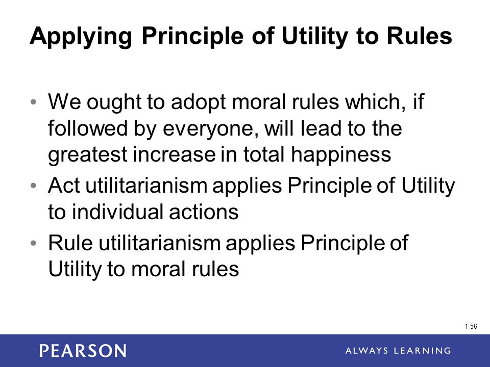 Application of Ethical Principles