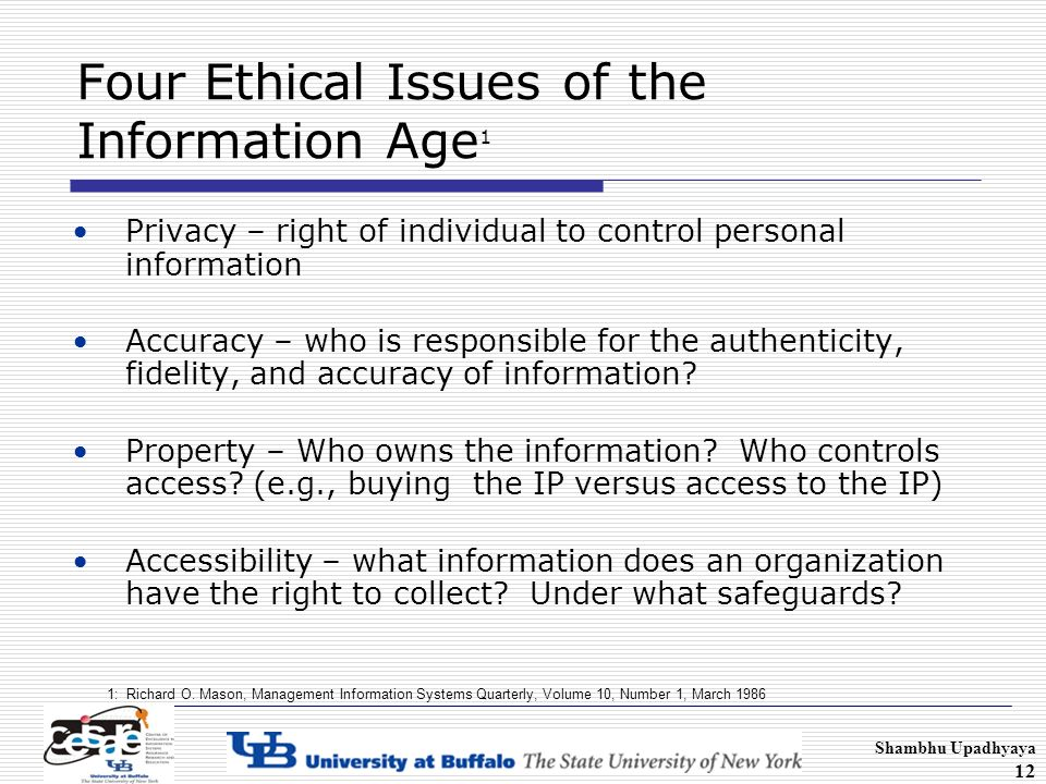 an analysis of the ethics of the age of information At the digital ethics lab we tackle the ethical challenges posed by digital  innovation  foresight analysis, and translational research on ethics,  governance,  dai: the ethics and economics of death in the age of information.