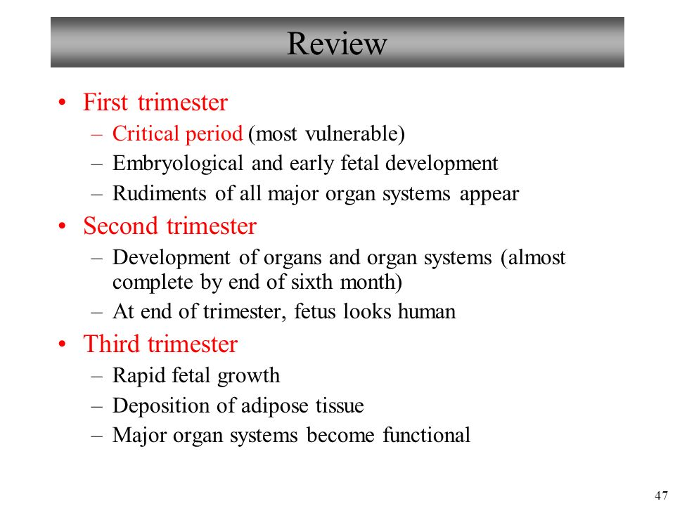 Dating and growth in the first trimester