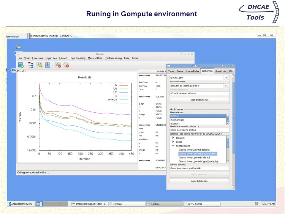 Runing in Gompute environment