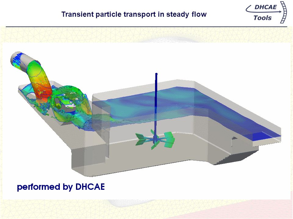 Transient particle transport in steady flow