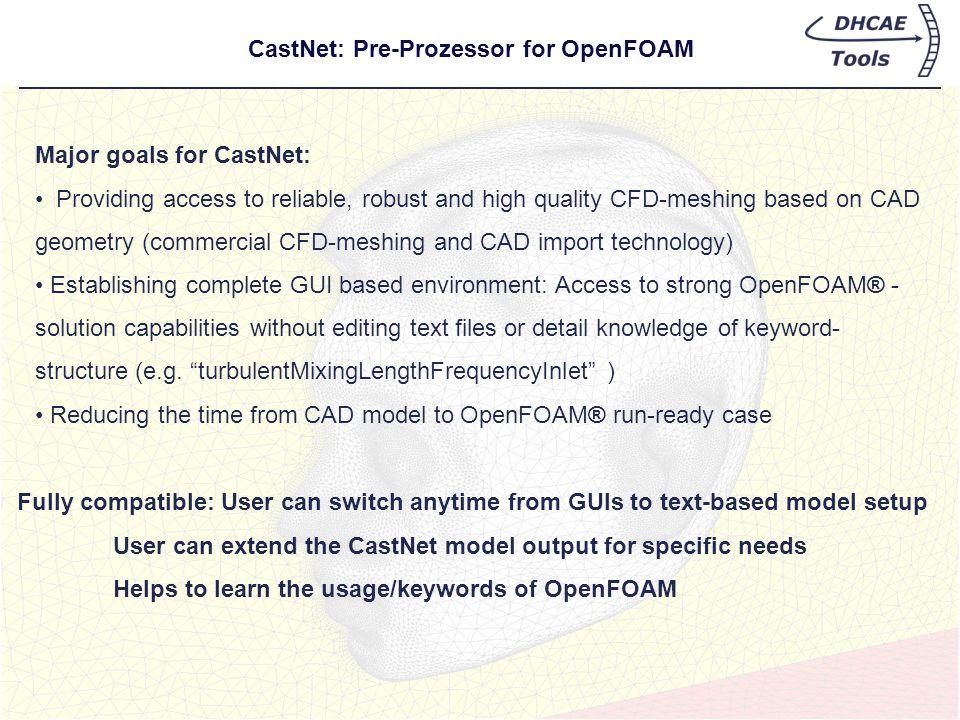 CastNet: Pre-Prozessor for OpenFOAM