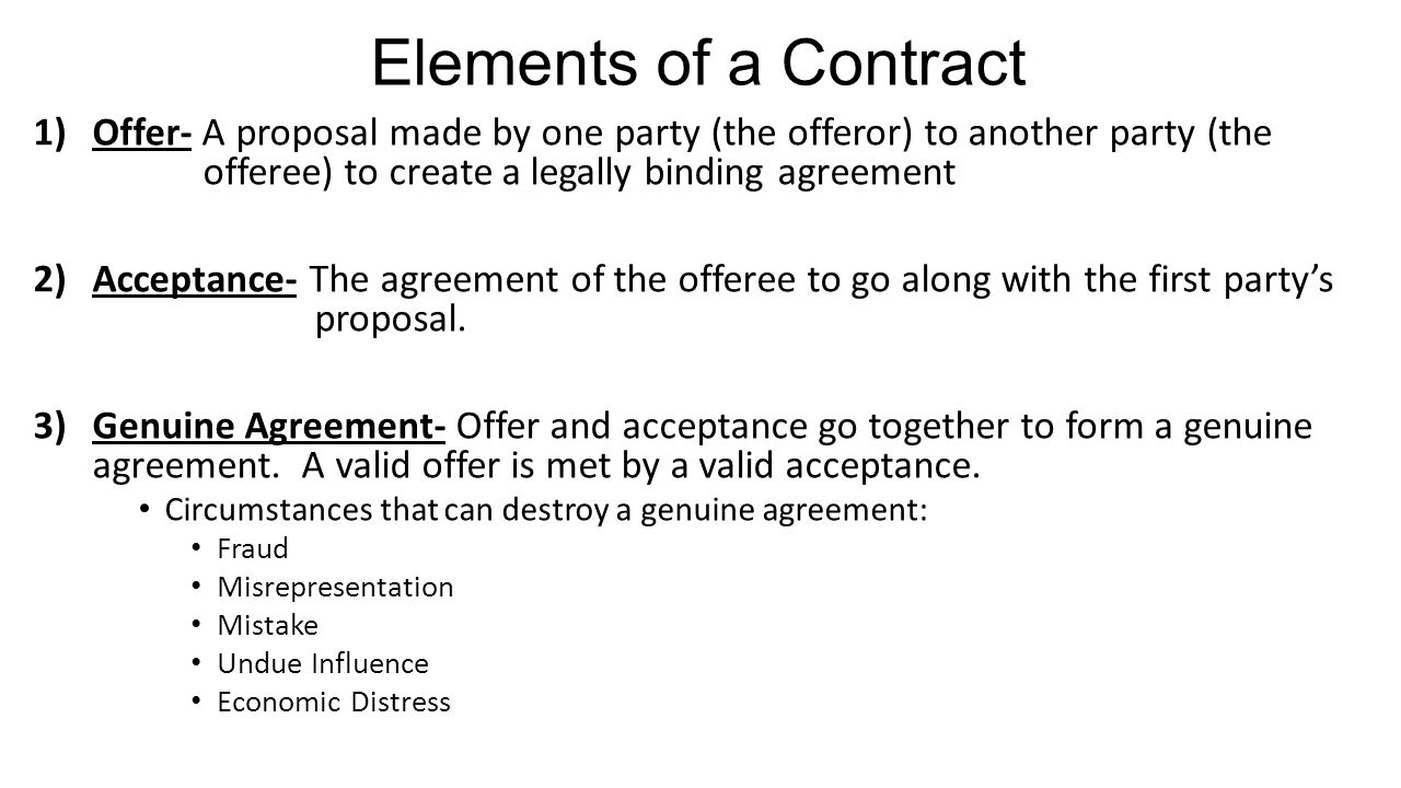 can a contracts made by a There are, however, some bad bargains made and it is useful to  in such a case , a contract will be enforceable against you and not your child.