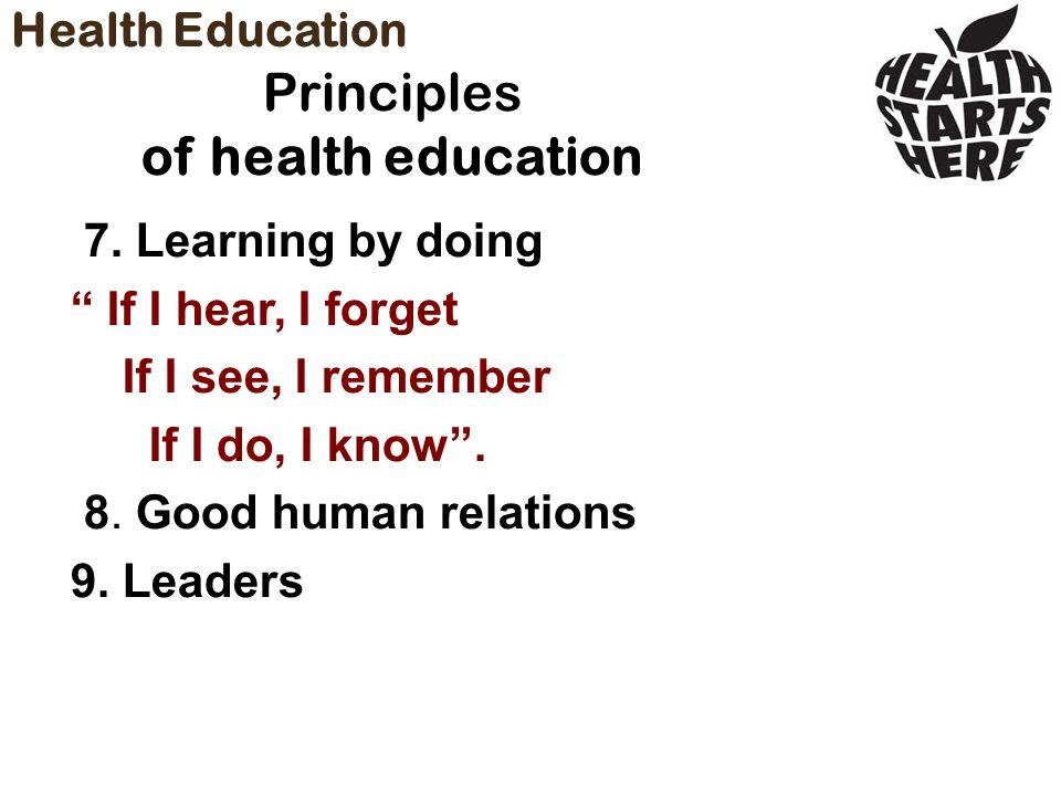 14 principles of health education pdf