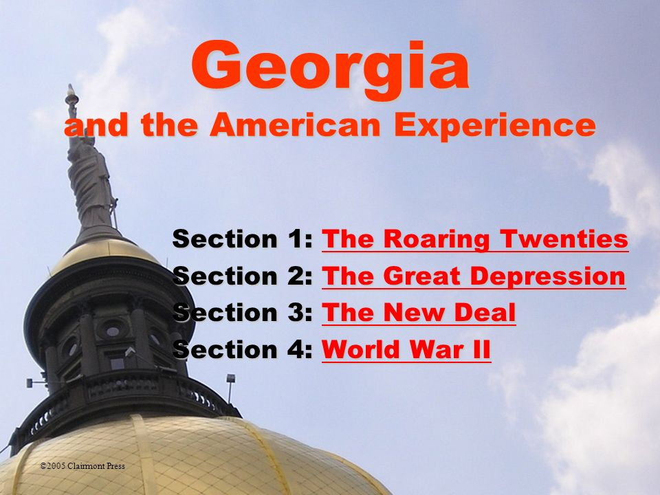 Georgia american experience online textbook